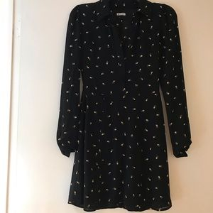 Reformation floral long sleeve dress xs NWT